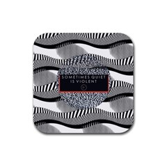 Sometimes Quiet Is Violent Twenty One Pilots The Meaning Of Blurryface Album Rubber Coaster (square)  by Onesevenart