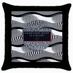 Sometimes Quiet Is Violent Twenty One Pilots The Meaning Of Blurryface Album Throw Pillow Case (black) by Onesevenart