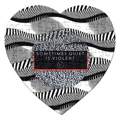 Sometimes Quiet Is Violent Twenty One Pilots The Meaning Of Blurryface Album Jigsaw Puzzle (heart) by Onesevenart