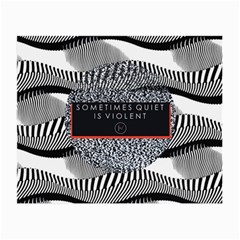 Sometimes Quiet Is Violent Twenty One Pilots The Meaning Of Blurryface Album Small Glasses Cloth by Onesevenart
