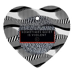 Sometimes Quiet Is Violent Twenty One Pilots The Meaning Of Blurryface Album Heart Ornament (two Sides) by Onesevenart