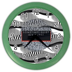 Sometimes Quiet Is Violent Twenty One Pilots The Meaning Of Blurryface Album Color Wall Clocks by Onesevenart