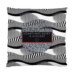 Sometimes Quiet Is Violent Twenty One Pilots The Meaning Of Blurryface Album Standard Cushion Case (one Side) by Onesevenart