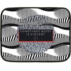 Sometimes Quiet Is Violent Twenty One Pilots The Meaning Of Blurryface Album Fleece Blanket (mini) by Onesevenart