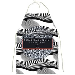 Sometimes Quiet Is Violent Twenty One Pilots The Meaning Of Blurryface Album Full Print Aprons by Onesevenart