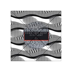 Sometimes Quiet Is Violent Twenty One Pilots The Meaning Of Blurryface Album Acrylic Tangram Puzzle (4  X 4 ) by Onesevenart