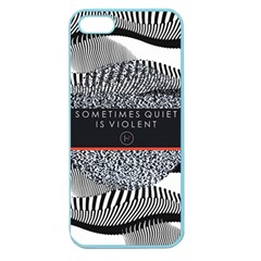 Sometimes Quiet Is Violent Twenty One Pilots The Meaning Of Blurryface Album Apple Seamless Iphone 5 Case (color) by Onesevenart