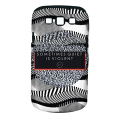 Sometimes Quiet Is Violent Twenty One Pilots The Meaning Of Blurryface Album Samsung Galaxy S Iii Classic Hardshell Case (pc+silicone) by Onesevenart