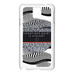 Sometimes Quiet Is Violent Twenty One Pilots The Meaning Of Blurryface Album Samsung Galaxy Note 3 N9005 Case (white) by Onesevenart