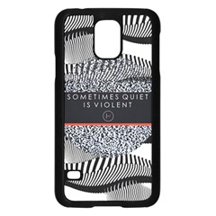 Sometimes Quiet Is Violent Twenty One Pilots The Meaning Of Blurryface Album Samsung Galaxy S5 Case (black) by Onesevenart