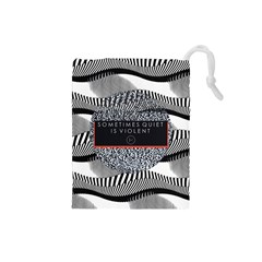 Sometimes Quiet Is Violent Twenty One Pilots The Meaning Of Blurryface Album Drawstring Pouches (small)  by Onesevenart