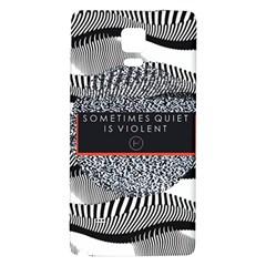 Sometimes Quiet Is Violent Twenty One Pilots The Meaning Of Blurryface Album Galaxy Note 4 Back Case by Onesevenart