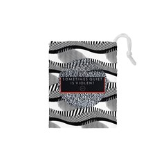 Sometimes Quiet Is Violent Twenty One Pilots The Meaning Of Blurryface Album Drawstring Pouches (xs)  by Onesevenart