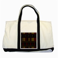 Tardis Doctor Who Ugly Holiday Two Tone Tote Bag by Onesevenart