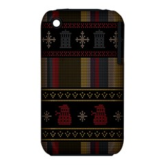 Tardis Doctor Who Ugly Holiday Iphone 3s/3gs by Onesevenart
