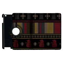 Tardis Doctor Who Ugly Holiday Apple Ipad 3/4 Flip 360 Case by Onesevenart