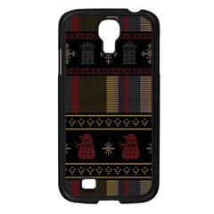 Tardis Doctor Who Ugly Holiday Samsung Galaxy S4 I9500/ I9505 Case (black) by Onesevenart
