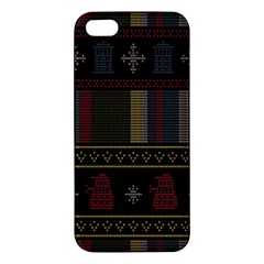 Tardis Doctor Who Ugly Holiday Iphone 5s/ Se Premium Hardshell Case by Onesevenart