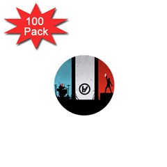Twenty One 21 Pilots 1  Mini Buttons (100 Pack)  by Onesevenart