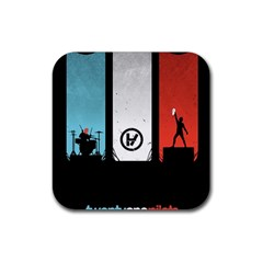 Twenty One 21 Pilots Rubber Coaster (square)  by Onesevenart