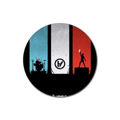 Twenty One 21 Pilots Rubber Round Coaster (4 Pack)  by Onesevenart