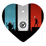 Twenty One 21 Pilots Heart Ornament (Two Sides)