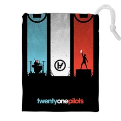 Twenty One 21 Pilots Drawstring Pouches (xxl) by Onesevenart