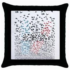 Twenty One Pilots Birds Throw Pillow Case (black) by Onesevenart