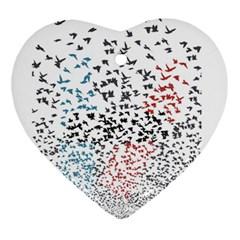 Twenty One Pilots Birds Heart Ornament (two Sides) by Onesevenart
