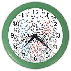 Twenty One Pilots Birds Color Wall Clocks by Onesevenart
