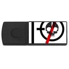 Twenty One Pilots Skull Usb Flash Drive Rectangular (4 Gb) by Onesevenart