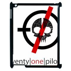Twenty One Pilots Skull Apple Ipad 2 Case (black) by Onesevenart