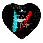 Twenty One Pilots Stay Alive Song Lyrics Quotes Ornament (Heart)