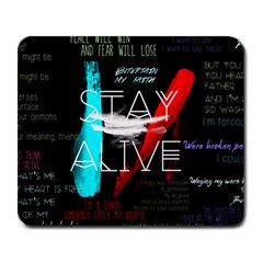 Twenty One Pilots Stay Alive Song Lyrics Quotes Large Mousepads by Onesevenart