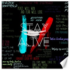 Twenty One Pilots Stay Alive Song Lyrics Quotes Canvas 20  X 20   by Onesevenart