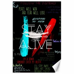 Twenty One Pilots Stay Alive Song Lyrics Quotes Canvas 20  X 30   by Onesevenart
