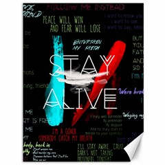Twenty One Pilots Stay Alive Song Lyrics Quotes Canvas 36  X 48   by Onesevenart
