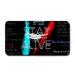 Twenty One Pilots Stay Alive Song Lyrics Quotes Medium Bar Mats by Onesevenart