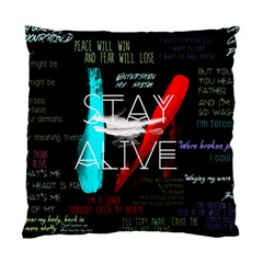 Twenty One Pilots Stay Alive Song Lyrics Quotes Standard Cushion Case (one Side) by Onesevenart