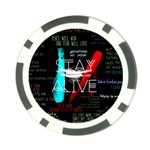 Twenty One Pilots Stay Alive Song Lyrics Quotes Poker Chip Card Guard (10 pack)