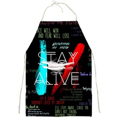 Twenty One Pilots Stay Alive Song Lyrics Quotes Full Print Aprons by Onesevenart