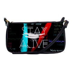 Twenty One Pilots Stay Alive Song Lyrics Quotes Shoulder Clutch Bags by Onesevenart