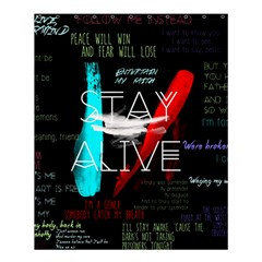 Twenty One Pilots Stay Alive Song Lyrics Quotes Shower Curtain 60  X 72  (medium)  by Onesevenart