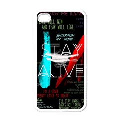 Twenty One Pilots Stay Alive Song Lyrics Quotes Apple Iphone 4 Case (white) by Onesevenart