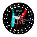 Twenty One Pilots Stay Alive Song Lyrics Quotes Round Filigree Ornament (Two Sides)