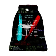 Twenty One Pilots Stay Alive Song Lyrics Quotes Bell Ornament (two Sides) by Onesevenart