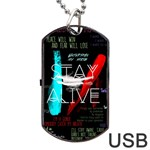 Twenty One Pilots Stay Alive Song Lyrics Quotes Dog Tag USB Flash (Two Sides)