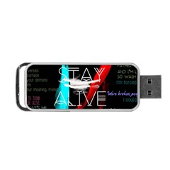 Twenty One Pilots Stay Alive Song Lyrics Quotes Portable Usb Flash (one Side) by Onesevenart