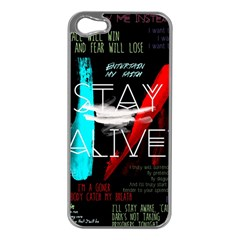 Twenty One Pilots Stay Alive Song Lyrics Quotes Apple Iphone 5 Case (silver) by Onesevenart