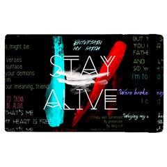 Twenty One Pilots Stay Alive Song Lyrics Quotes Apple Ipad 2 Flip Case by Onesevenart